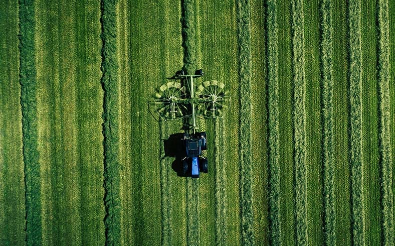 image of tractor in field